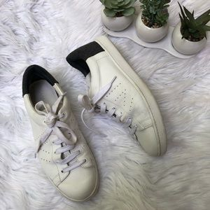 VINCE Varin Women's White Leather Sneakers Lace Up